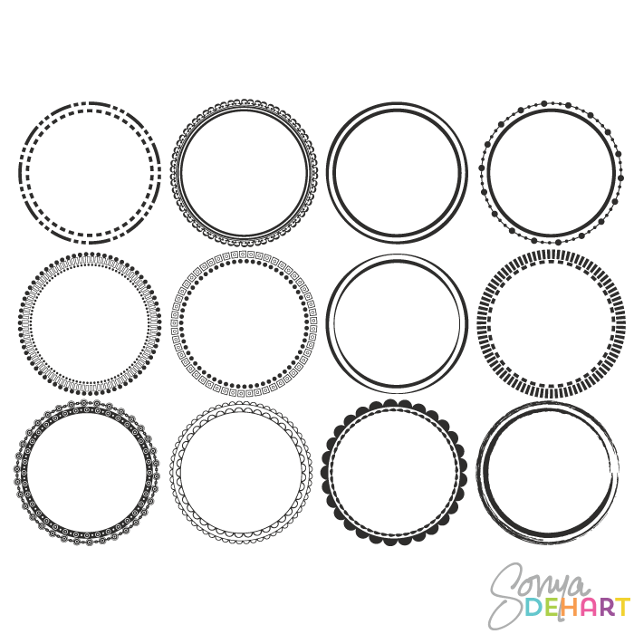 12 Rought Vector Clip Art Frames Images