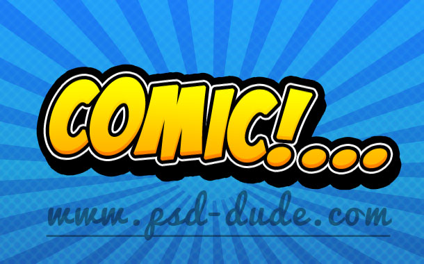 Comic Book Text Photoshop