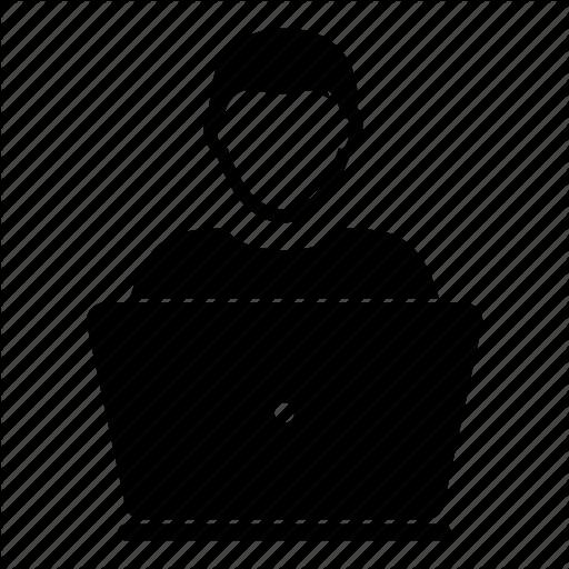 Computer Person Icon