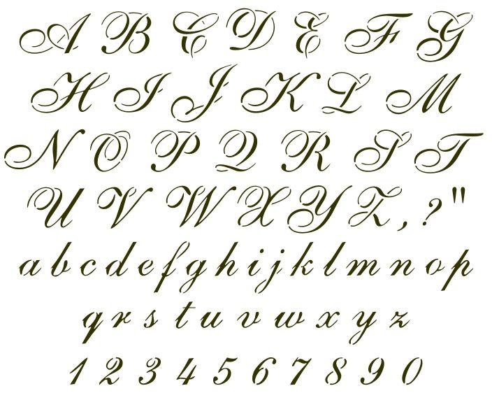 11 Cursive Font Samples Images