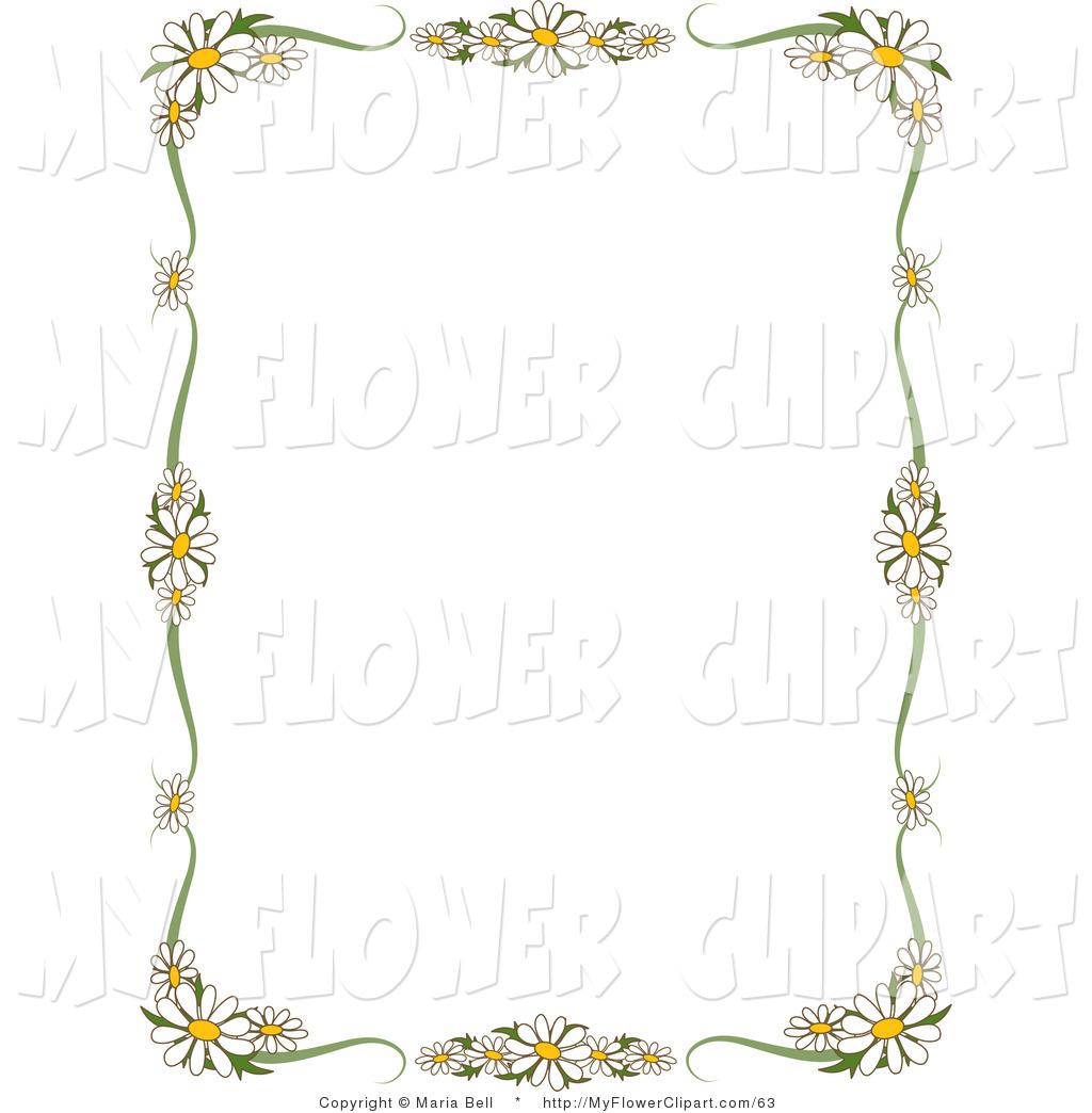 Daisy Flower Border Clip Art