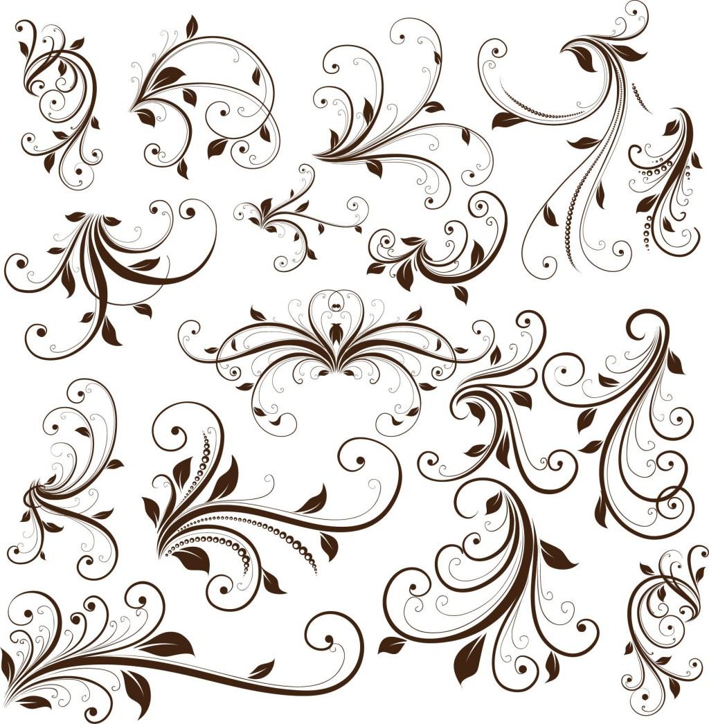 18 Elegant Swirl Background Vector Images