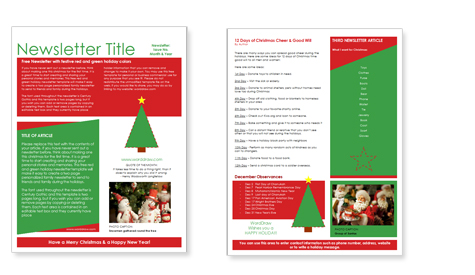 Download Free Microsoft Christmas Newsletter Template