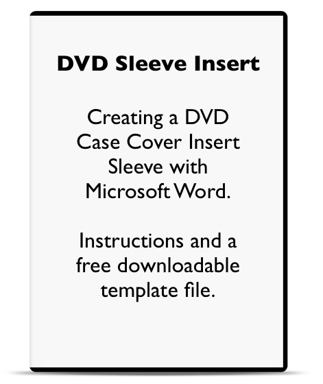 DVD Cover Template Microsoft Word