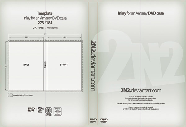 DVD Cover Template PSD