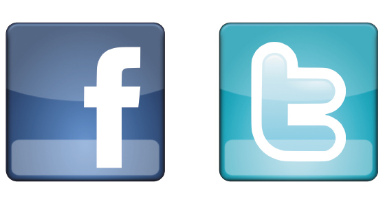 logo facebook twitter vectoriel