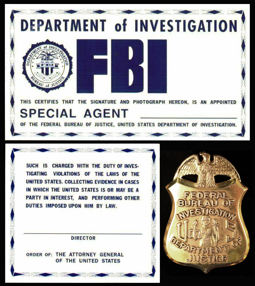FBI ID Card Template