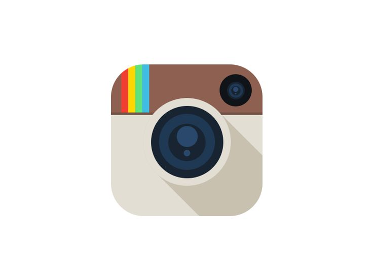 13 Flat Instagram Icon Images