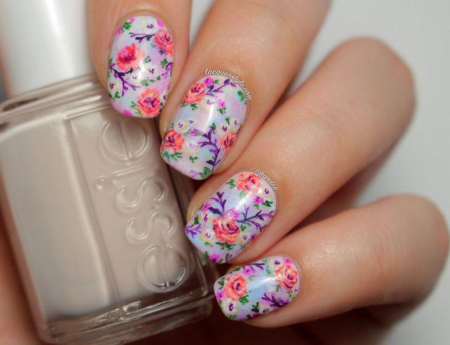 Floral Pastel Nail Polish