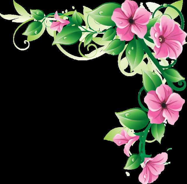 Flower Garden Border Clip Art
