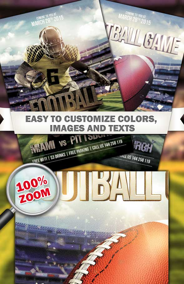 Football Game Flyer Template