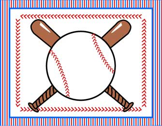 image regarding Free Printable Baseball Tags named 18 Baseball Border Template Visuals - Free of charge Baseball Border