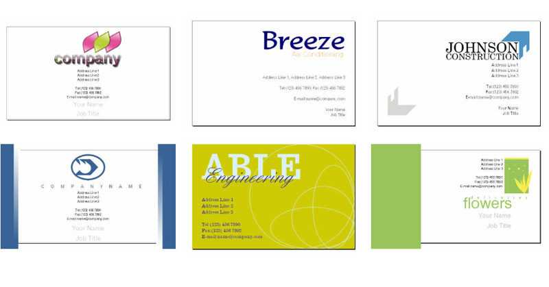 17 Business Cards Templates Free Downloads Images