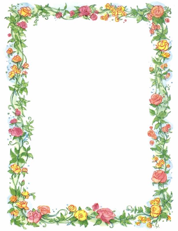 Free Clip Art Flowers Borders Frames