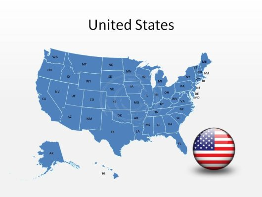 Editable Us Map: Free Map Of Usa For Powerpoint At Usa Maps