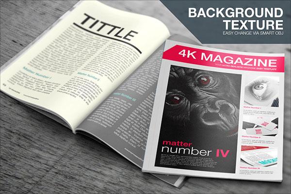 Free Magazine Cover Mockup PSD