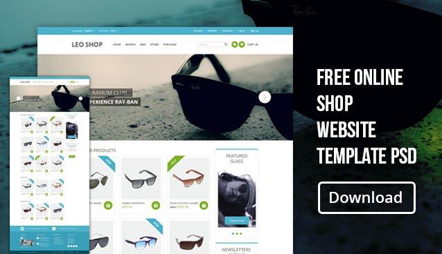 Free Online Store Website Templates