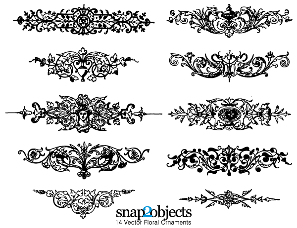 16 Free Flower Vector Ornaments Images