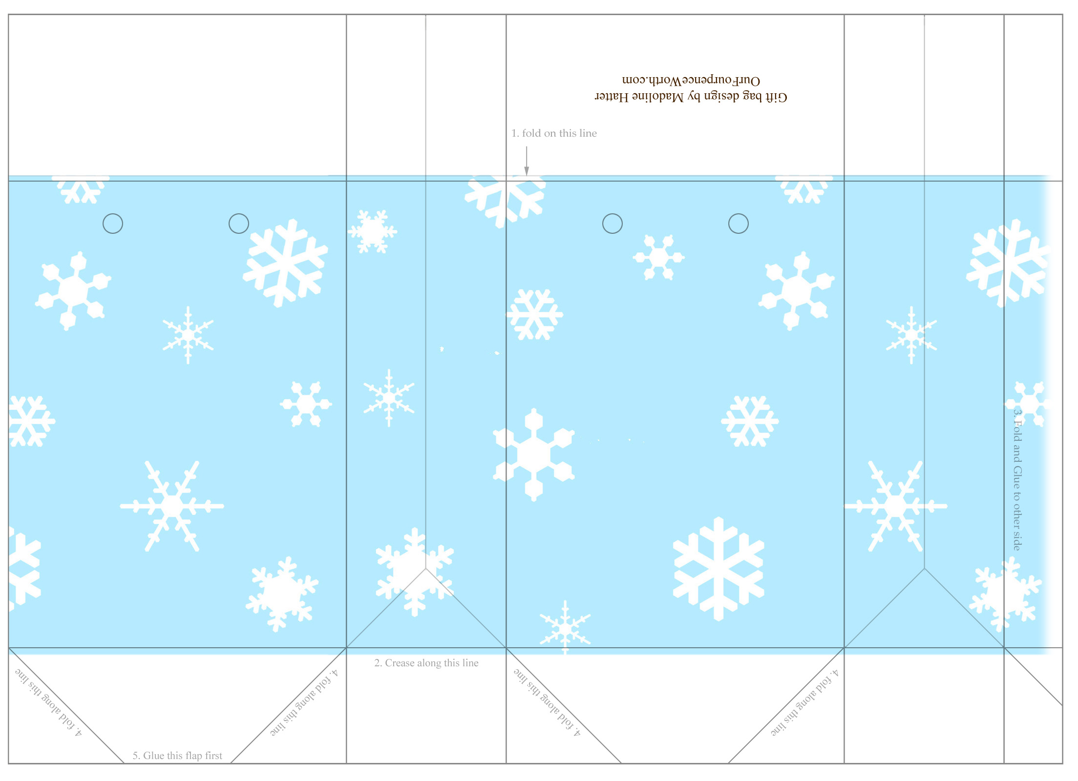 Free Printable Gift Bag Template