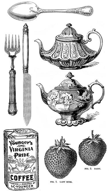 Free Printable Vintage Kitchen Clip Art