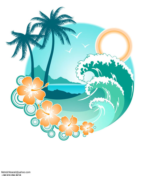 12 Free Summer Vector Graphics Images