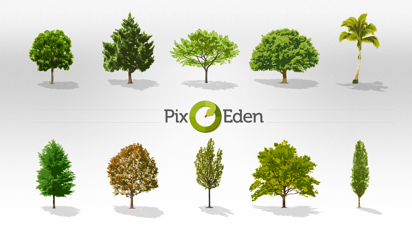 Free Tree Vector Pack Collection