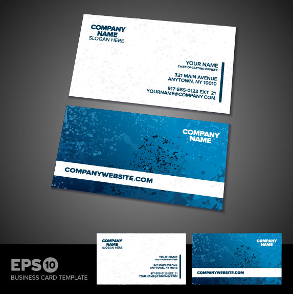 Vector Business Card Designs Free Download Gallery Card Design - Free vector business card templates