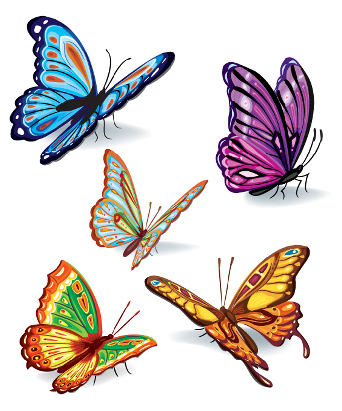Free Vector Butterfly Designs