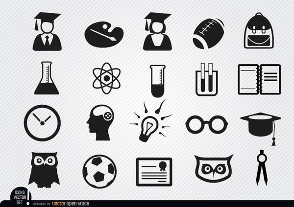 Free Vector Icons School