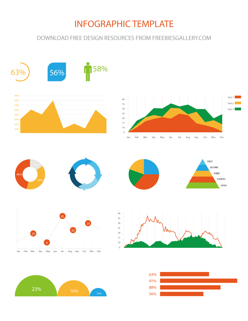 Free Vector Infographic Template