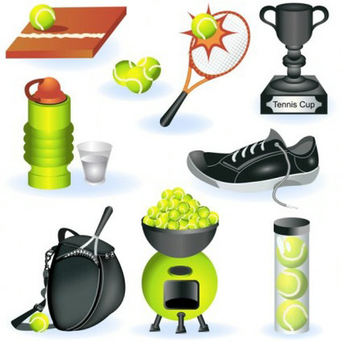 16 Sports Equipment Vector Images