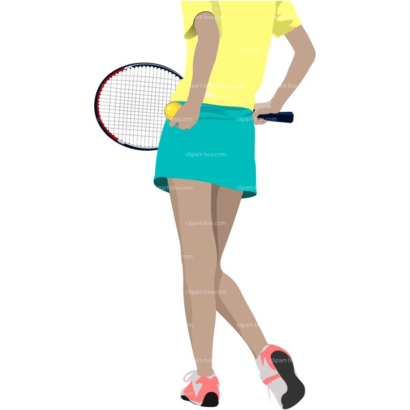 Girl Playing Tennis Clip Art
