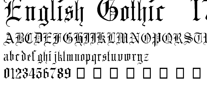 Gothic Medieval Fonts
