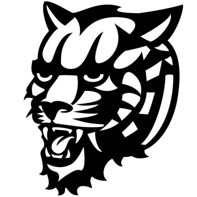Graphic Tiger Head Vector Free Download