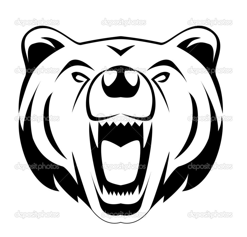 Grizzly Bear Head Clip Art
