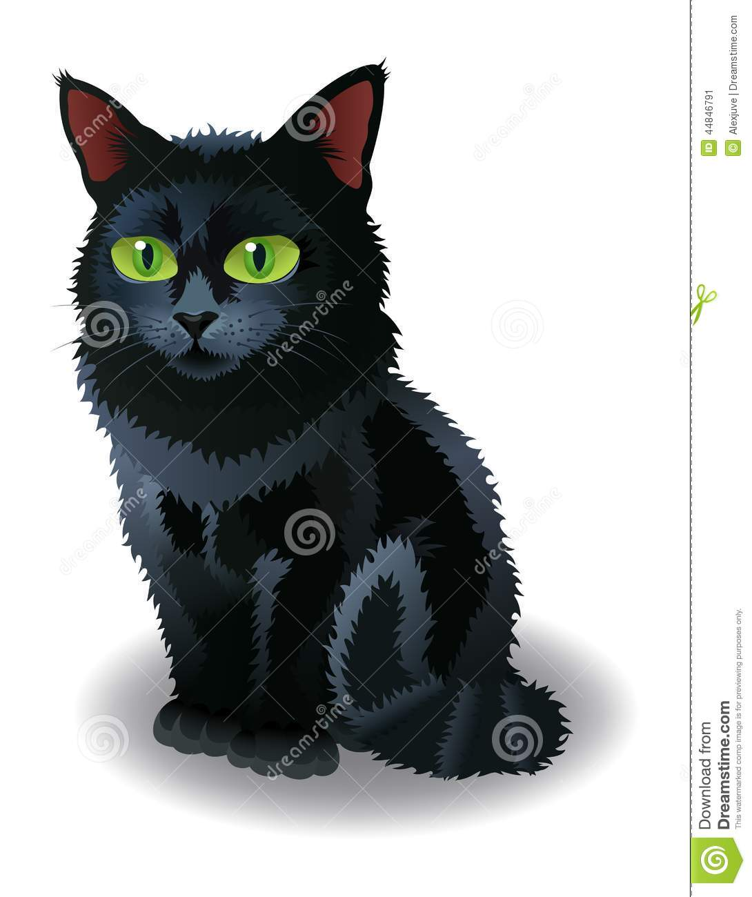10 Halloween Cat Vector Images