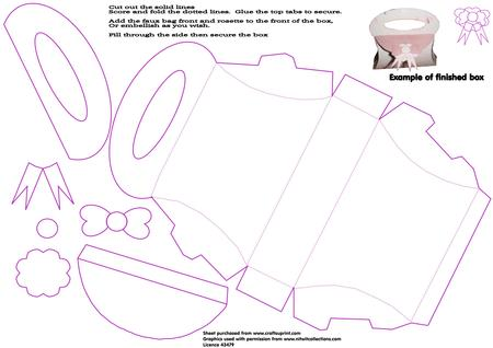 Handbag Shaped Box Template