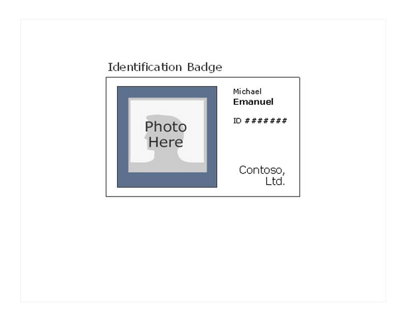 17 ID Badge Template Images