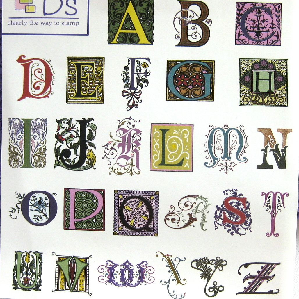 Illuminated Letters Alphabet Font