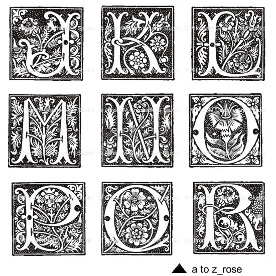 Illuminated Letters Clip Art
