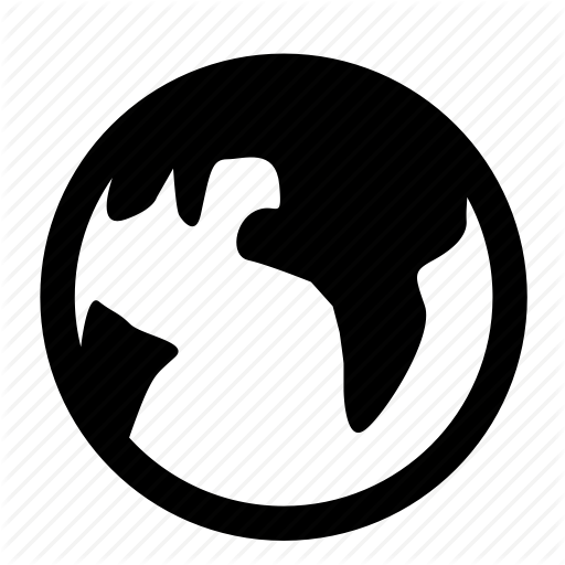 11 World Icon White PNG Logo Images - Internet World Wide