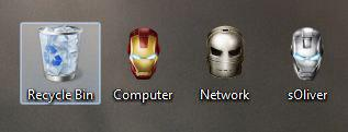 Iron Man Desktop Icons