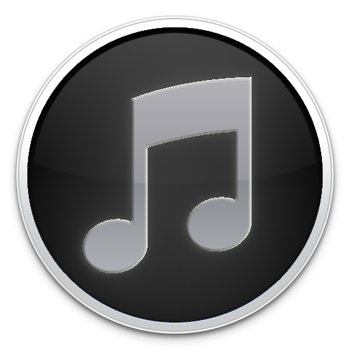 iTunes Logo Icon Black