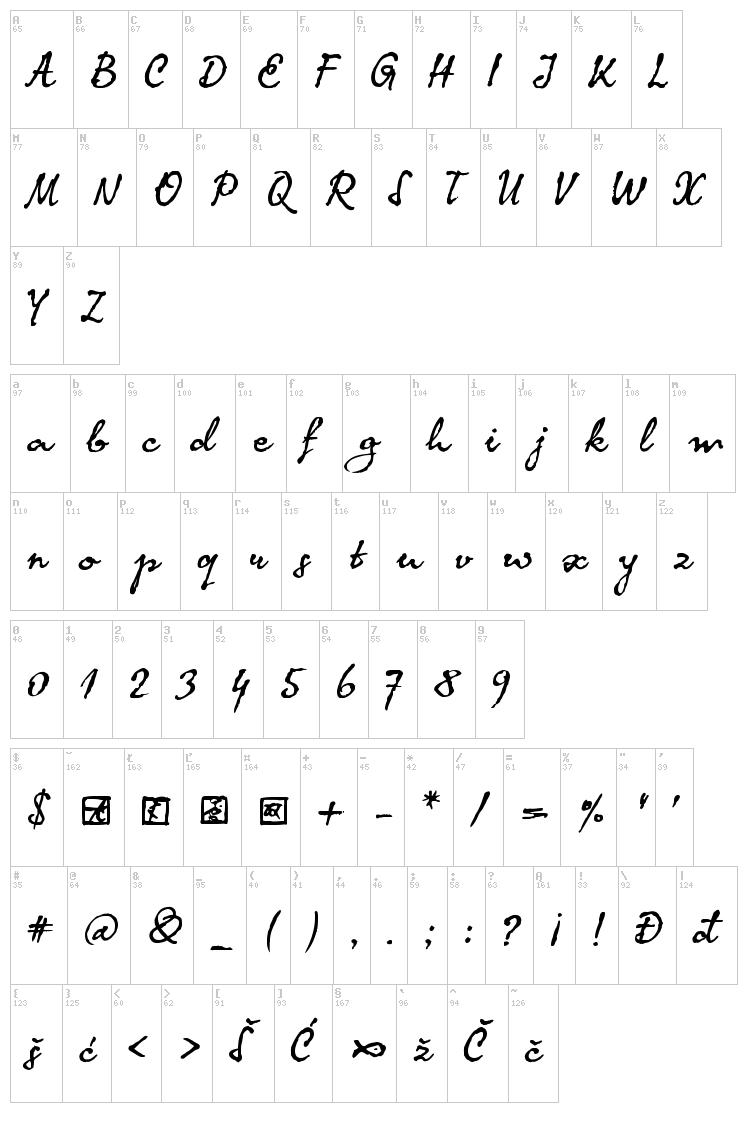 Latin Calligraphy Font