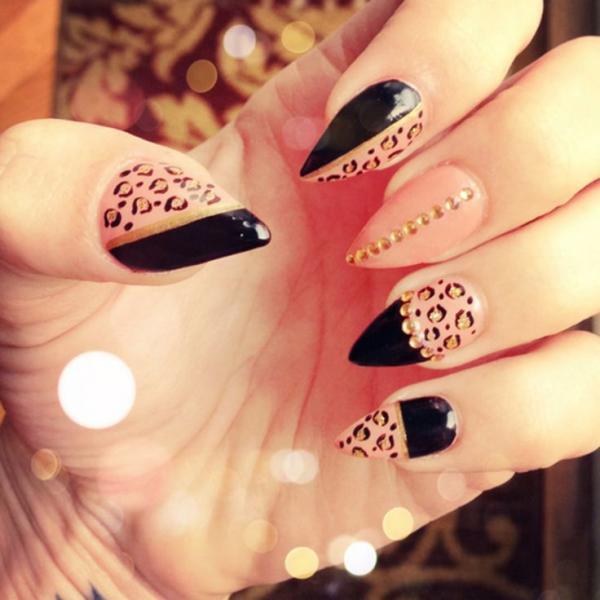Leopard Stiletto Nail Designs