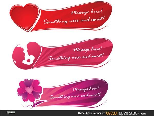 Love Hearts Valentine Banner