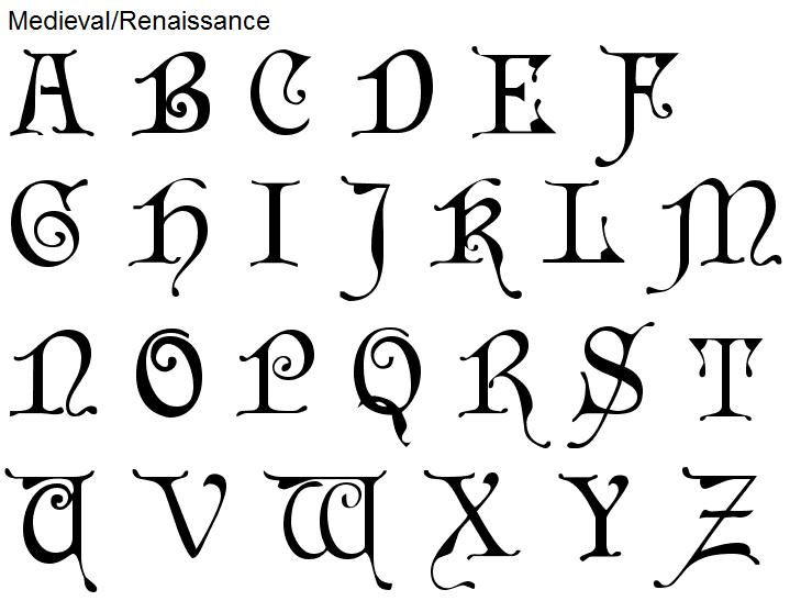 Medieval Writing Font