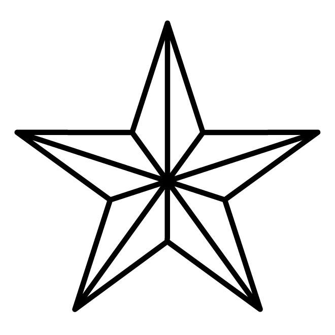Military Star Vector