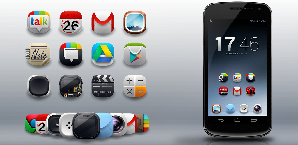 13 Android Icon Theme Packs Images