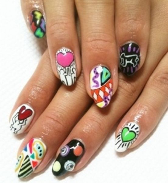 Nail Stiletto Art Designs